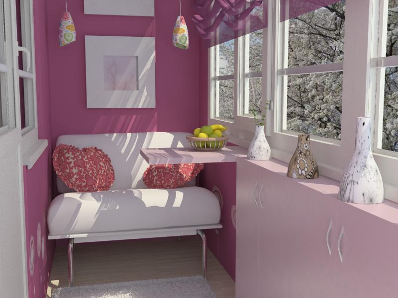Дизайн интерьера детского балкона - freelance job - фриланс .