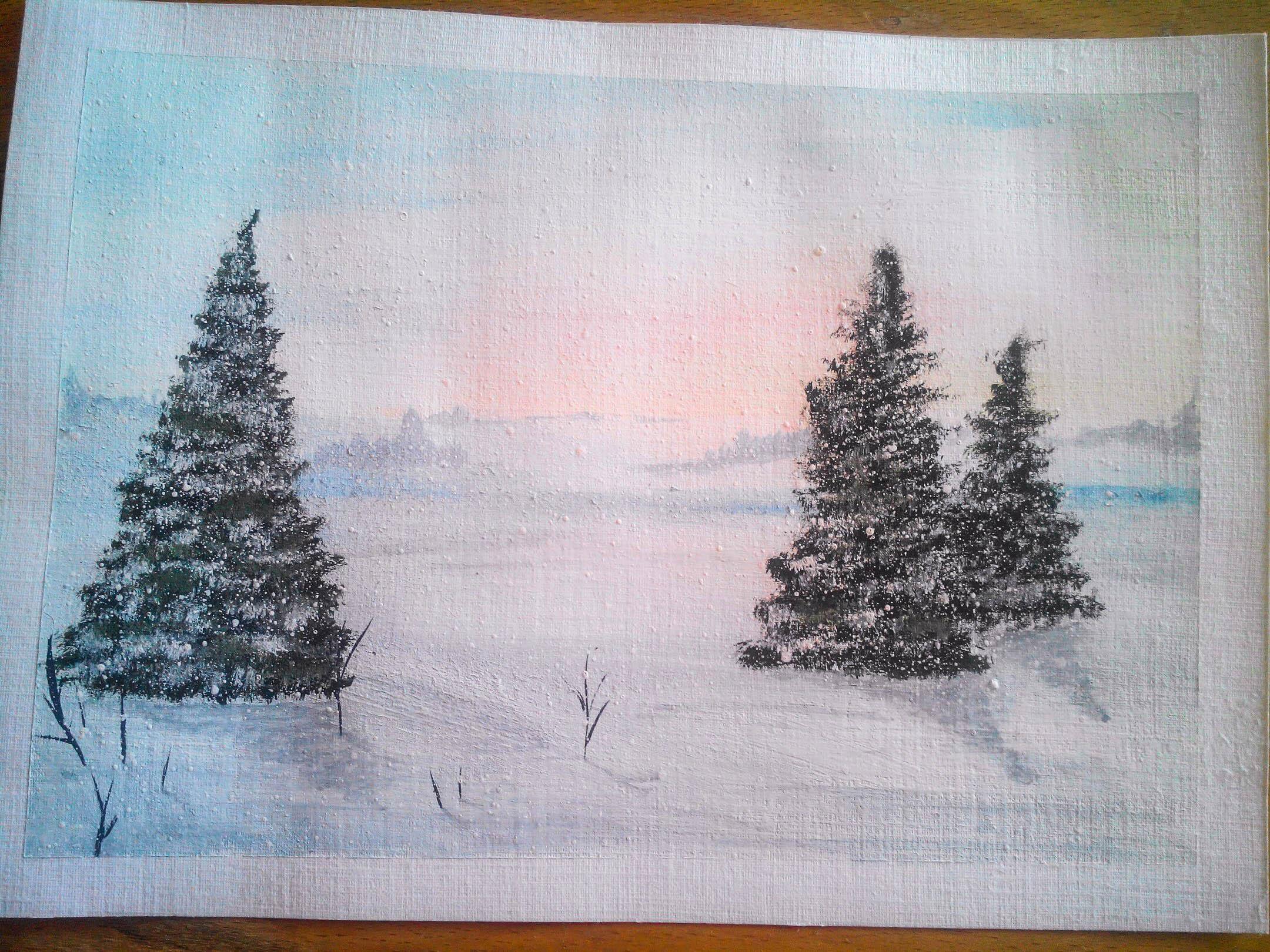 Как нарисовать елочку: m-optima.ru как нарисовать снег.юлия константиновна,большое спасибо за ваш отзыв!