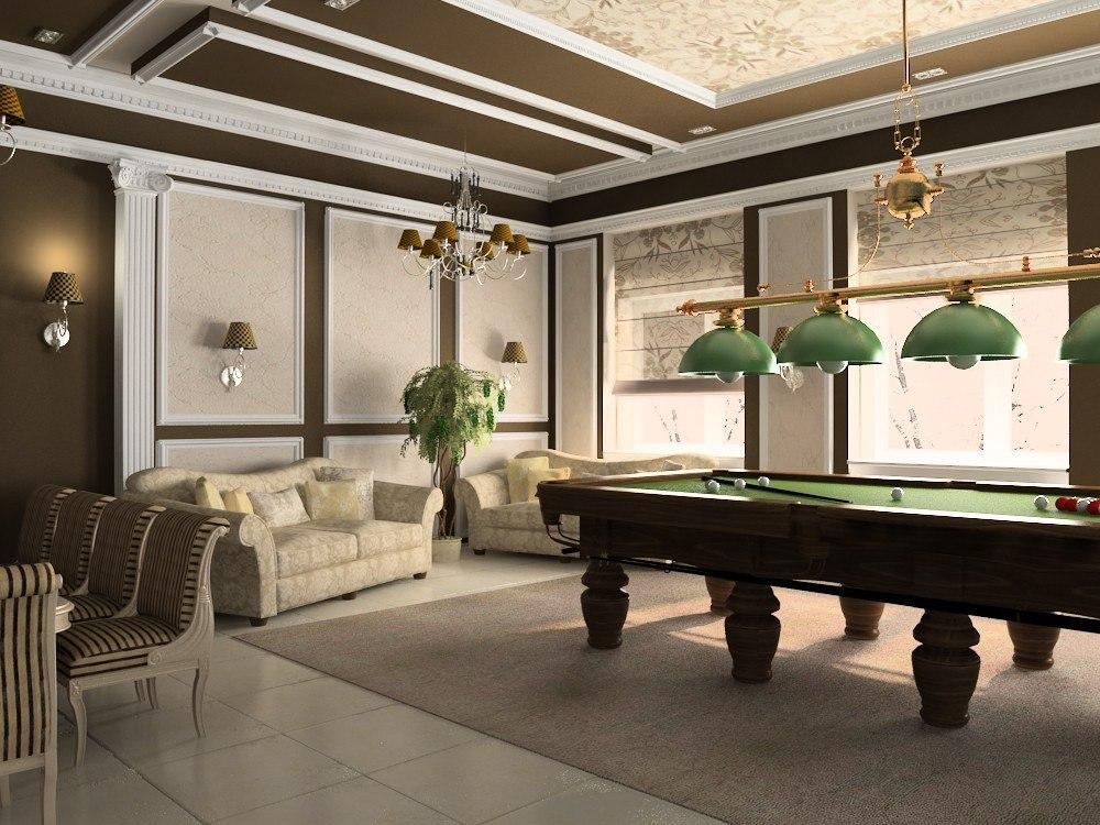 готовлю бильярдная комната дизайн фото классика известной поэтессы марины