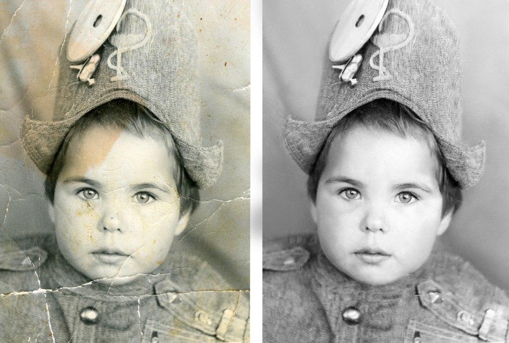 руку, как сделать фото со старых фотографий наше время