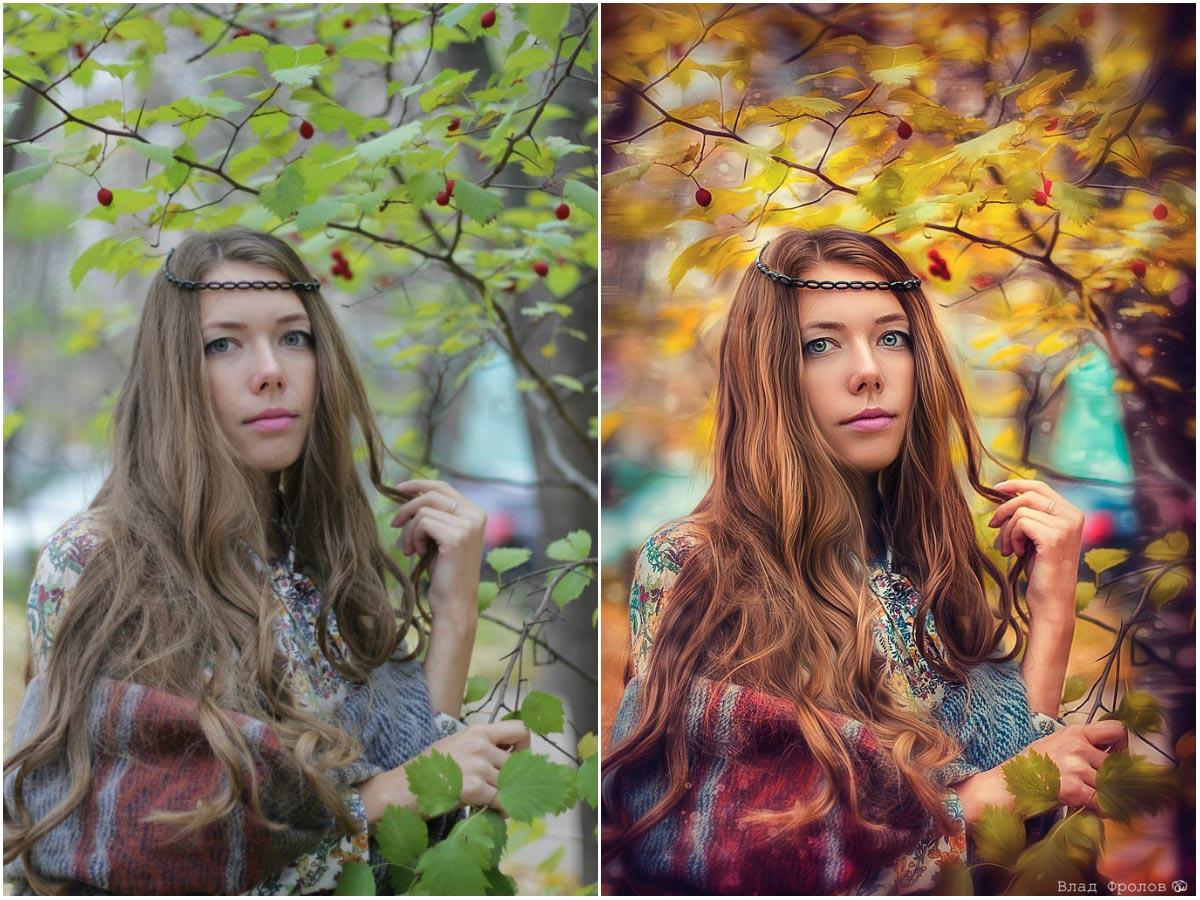 Красивая обработка фотографий цветогармонизация утка должна