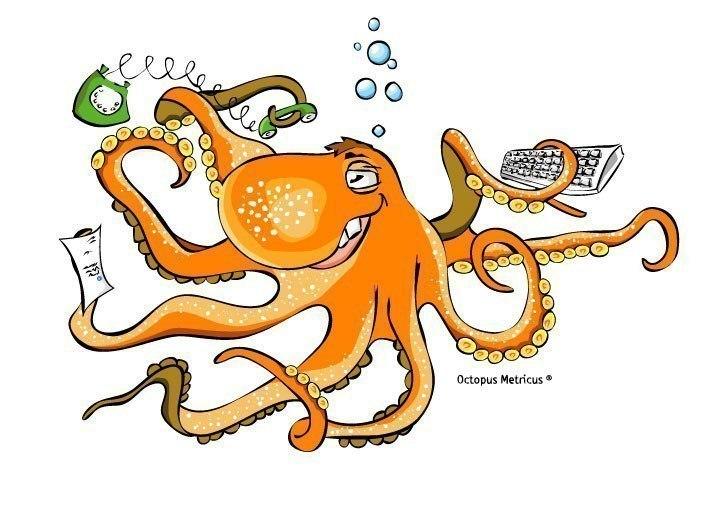 Смешной осьминог рисунок