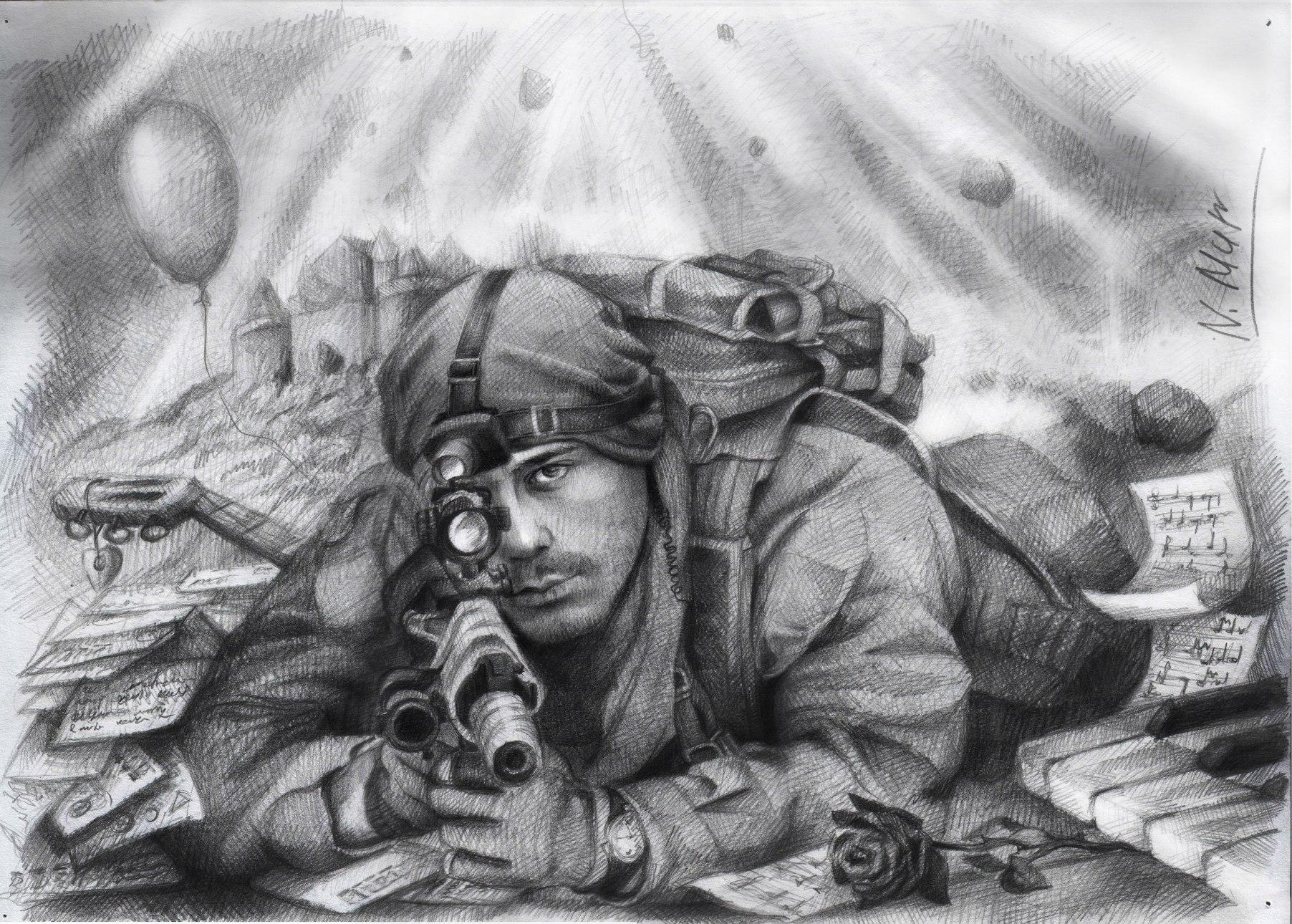 Картинки войны рисовать карандашом