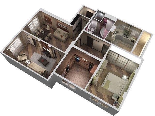 реальные фото трехкомная квартира в доме копэ есть