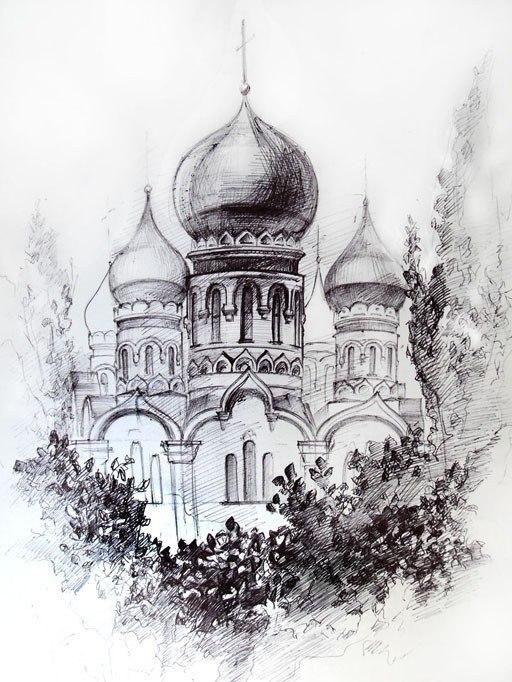 графика церкви: pictures11.ru/eskizy-kompozicij.html