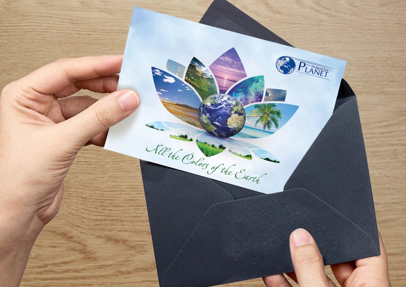 Дизайн открытки типография, открытку новый