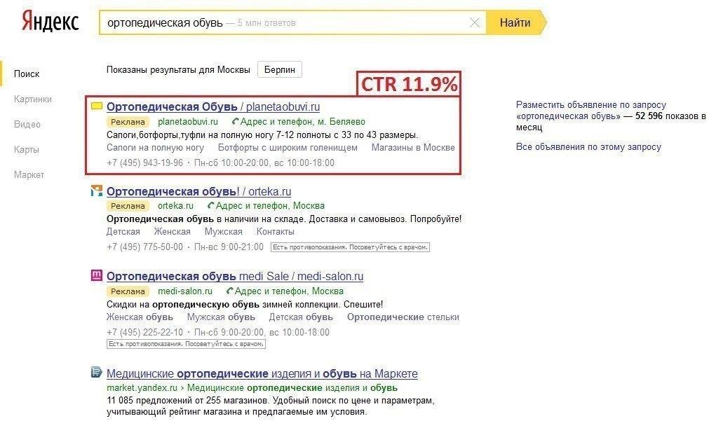 Что такое ctr контекстной рекламы