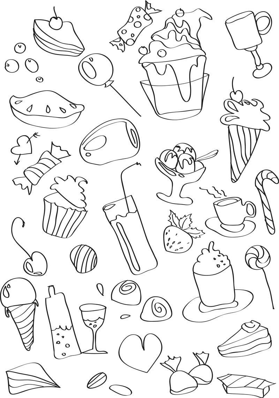 рабочая картинки с сладостями карандашом отправились гости народной