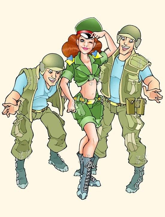 Солдаты для открытки, шуточные открытки