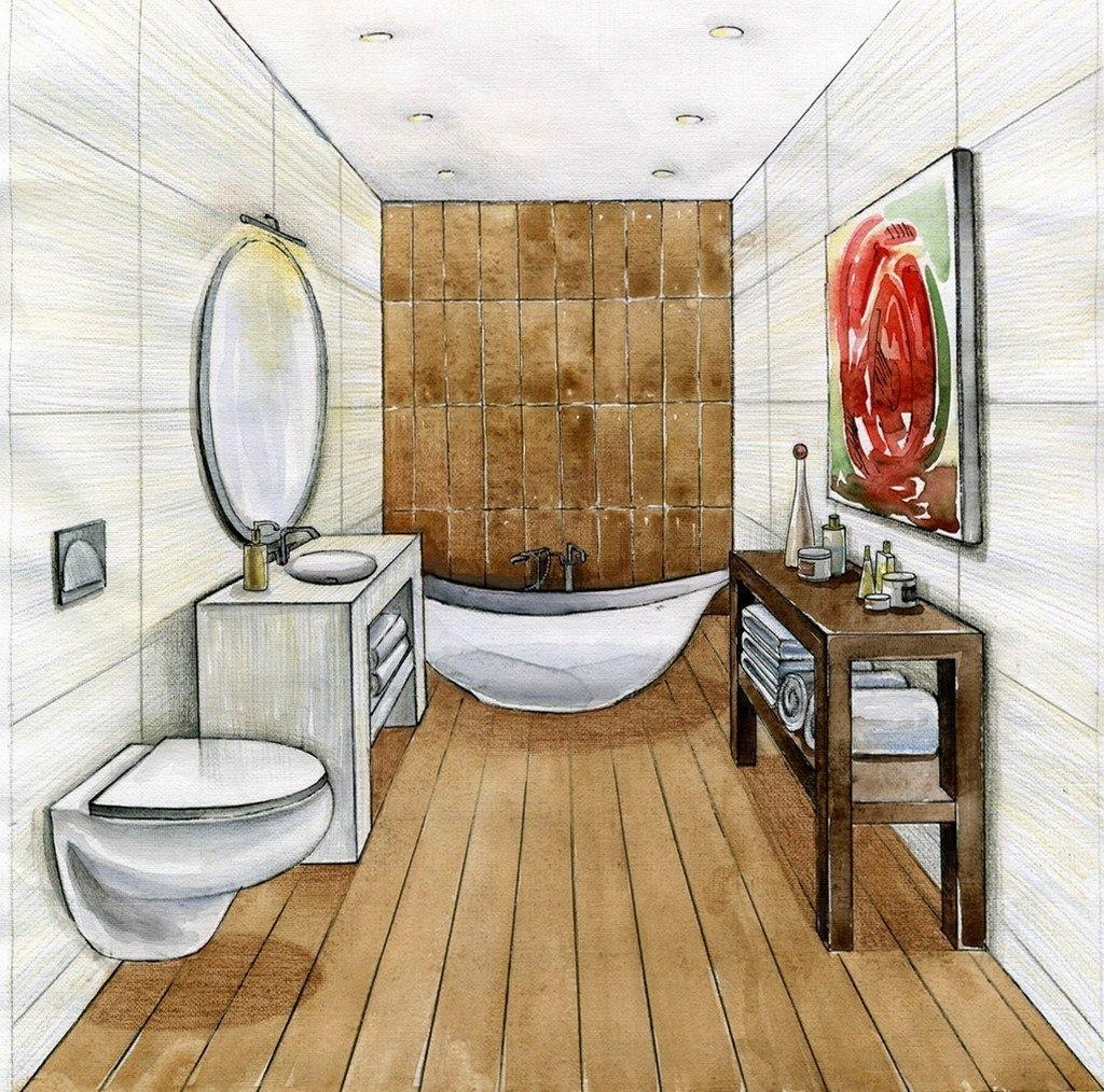 Рисунки для ванной комнаты