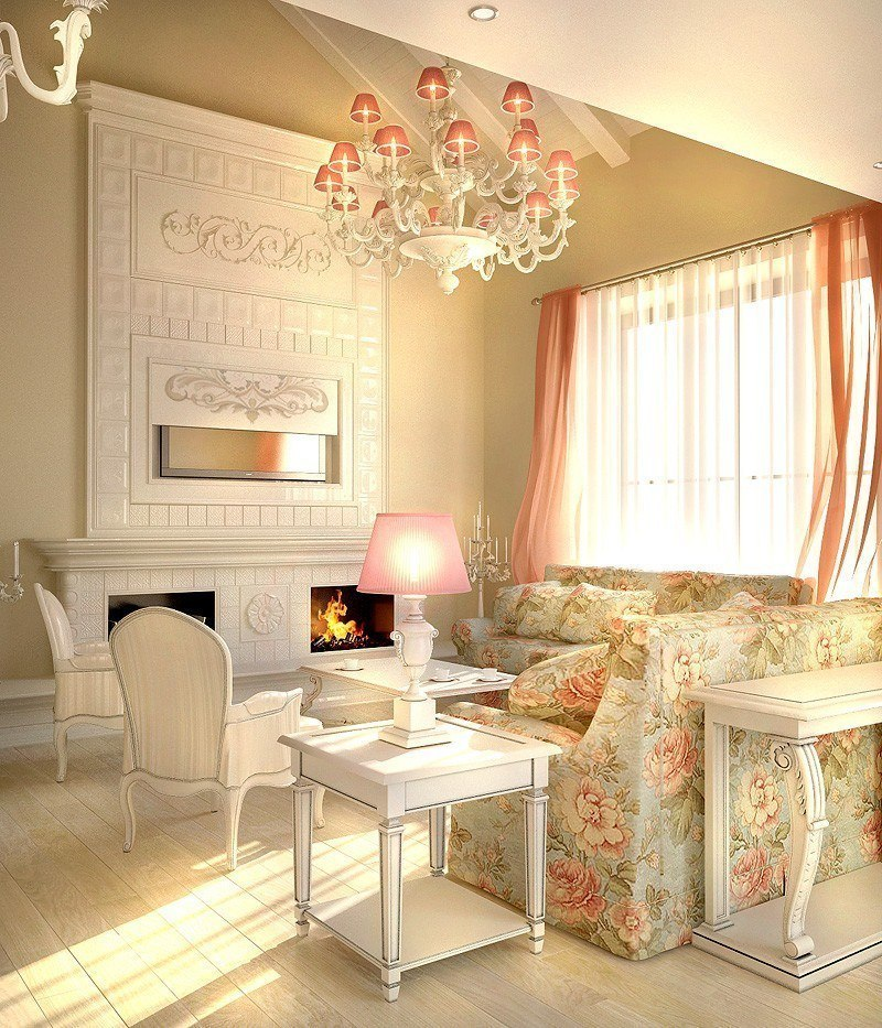 Пример дома в стиле прованс.