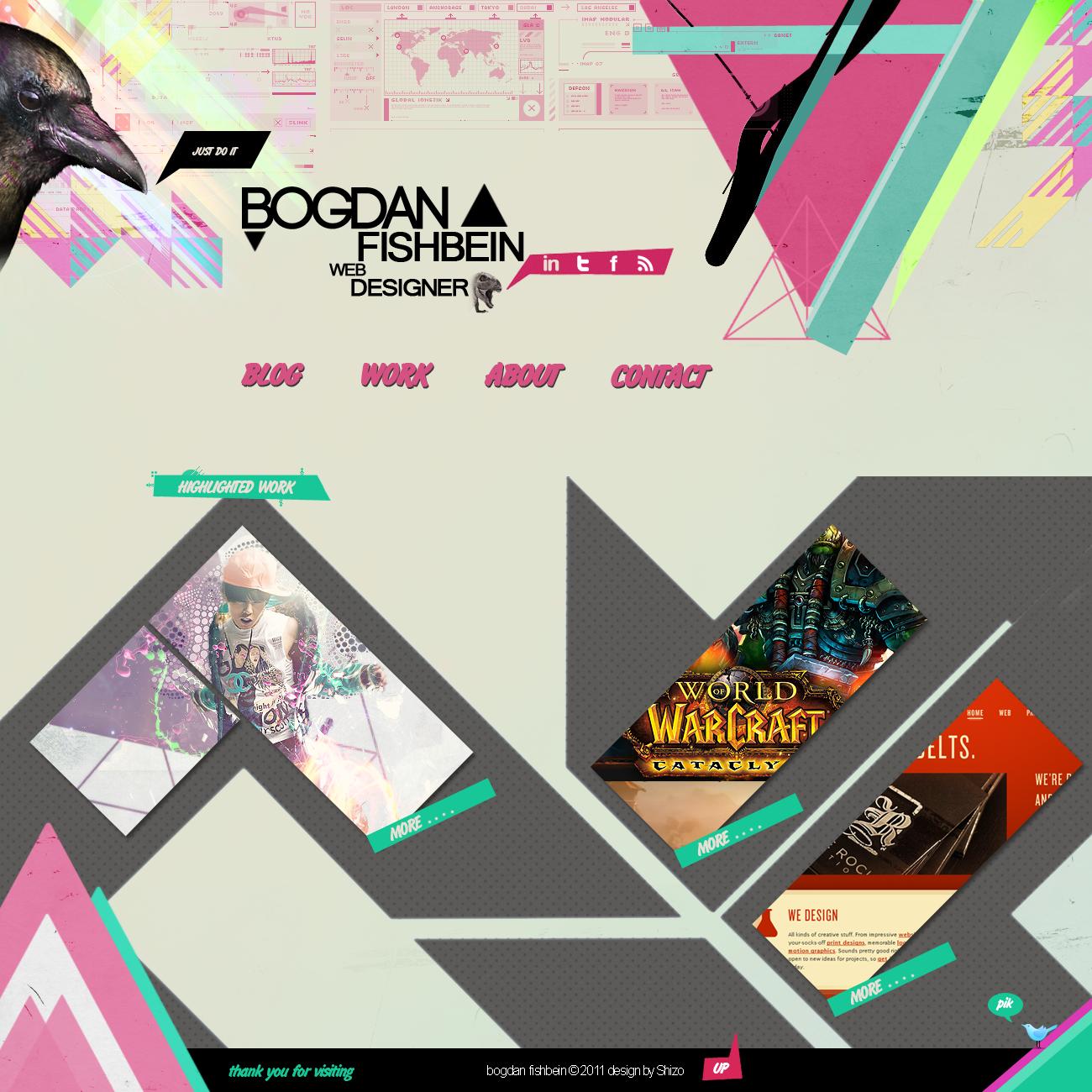 Сайт портфолио дизайна - Лучшие и оригинальные портфолио дизайнеров