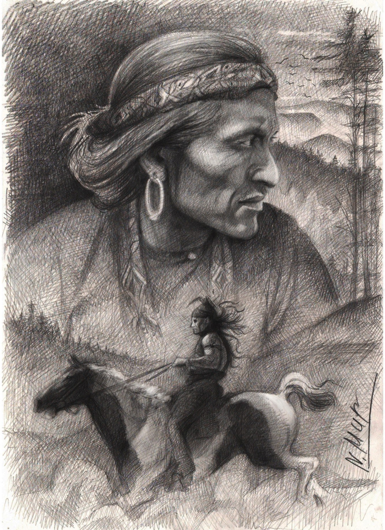 Графические картинки про индейцев