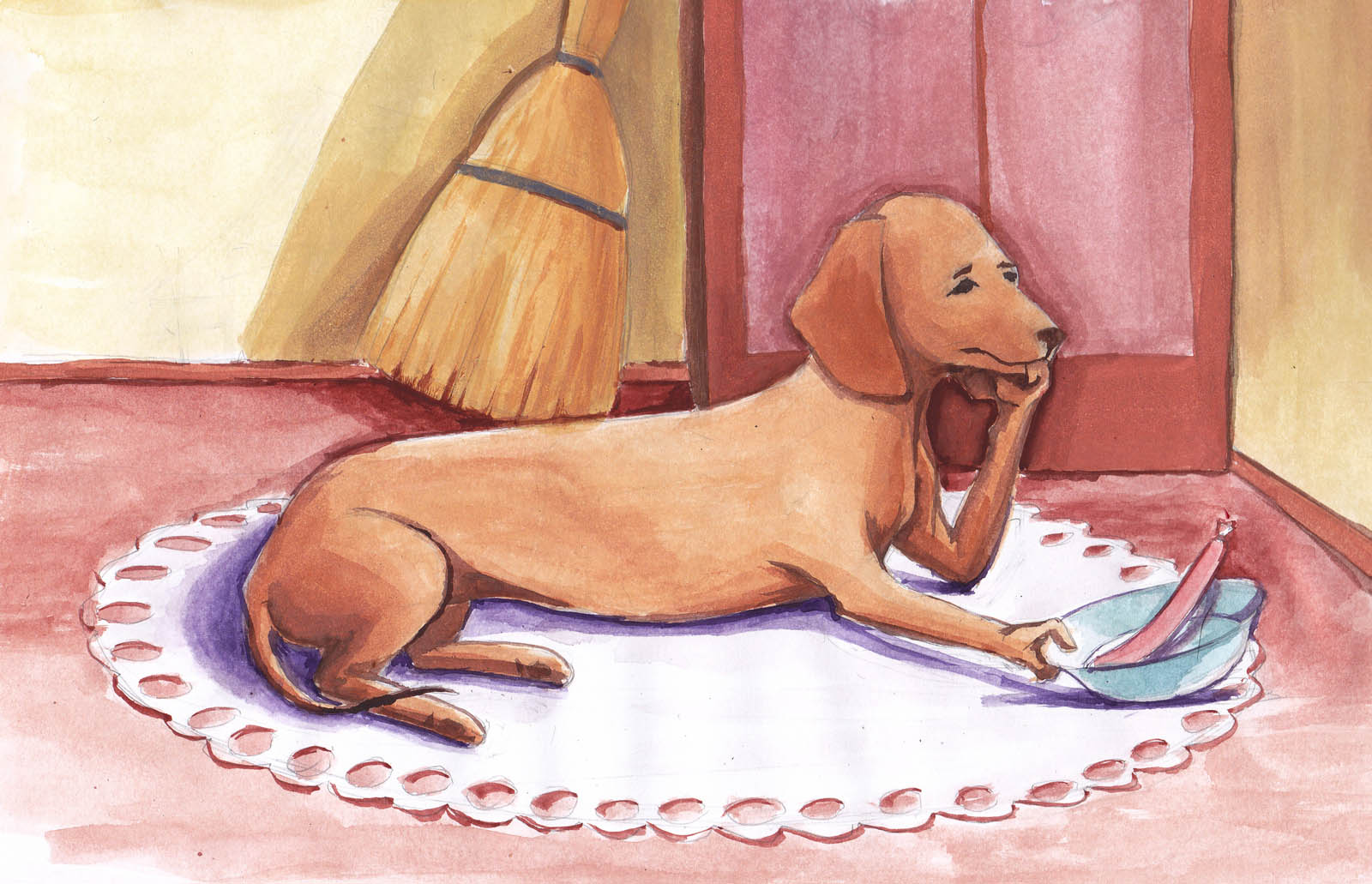 разобрал рисунки такса собака банан имеет