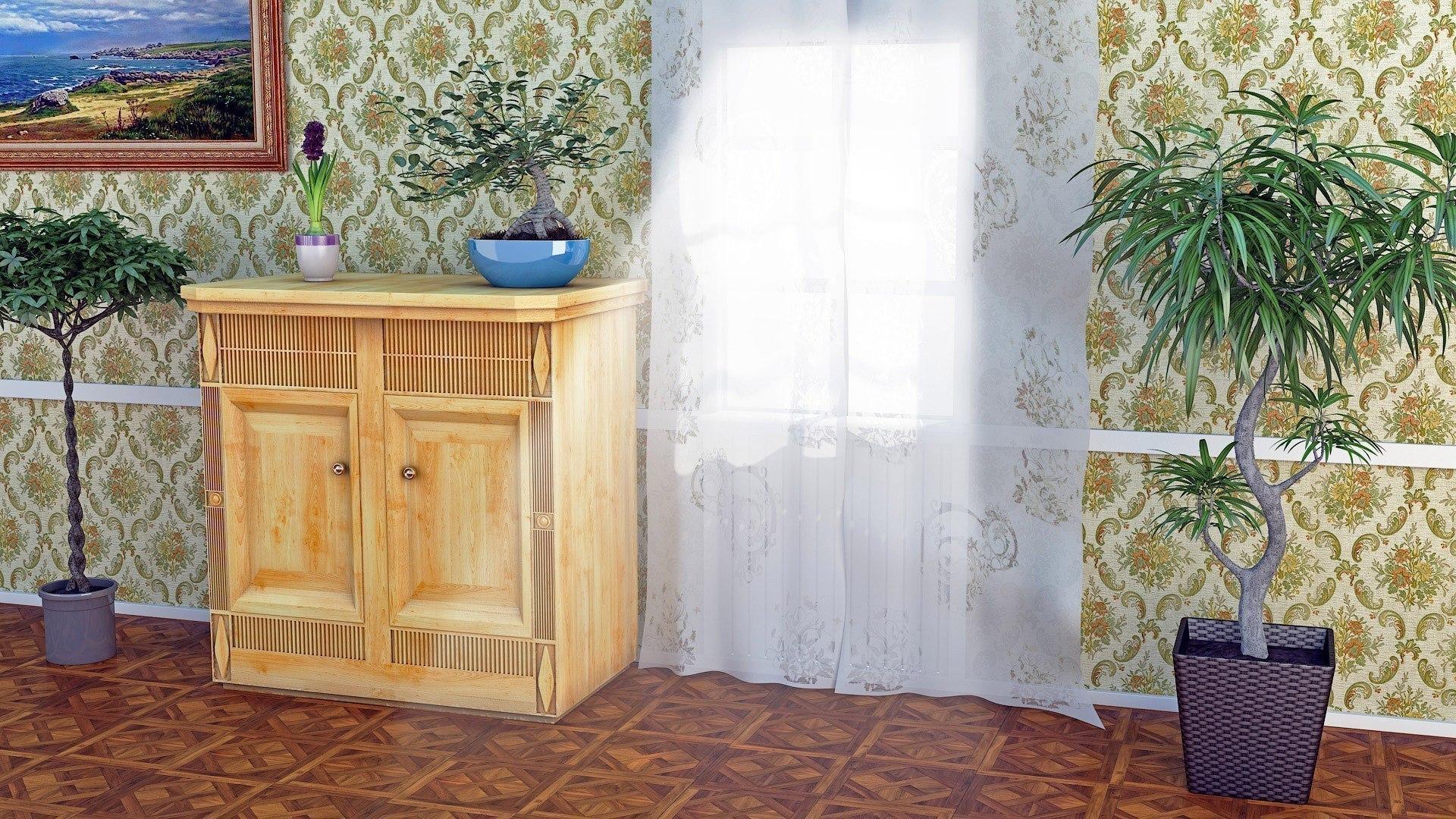 Комната с цветами картинки 6