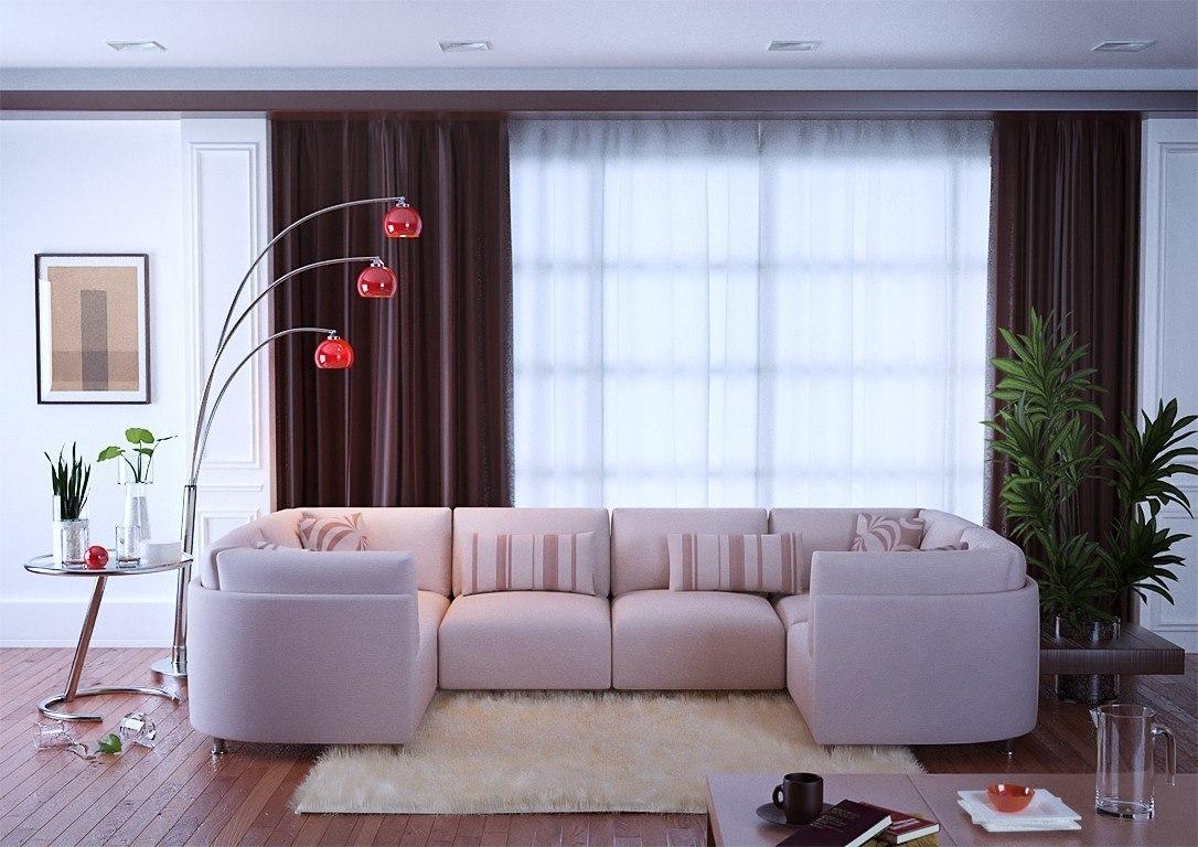 Интерьер  с диваном