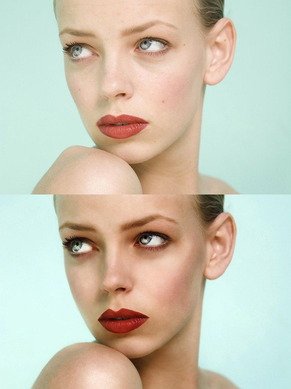 Фотошоп сделать кожу как в журналах