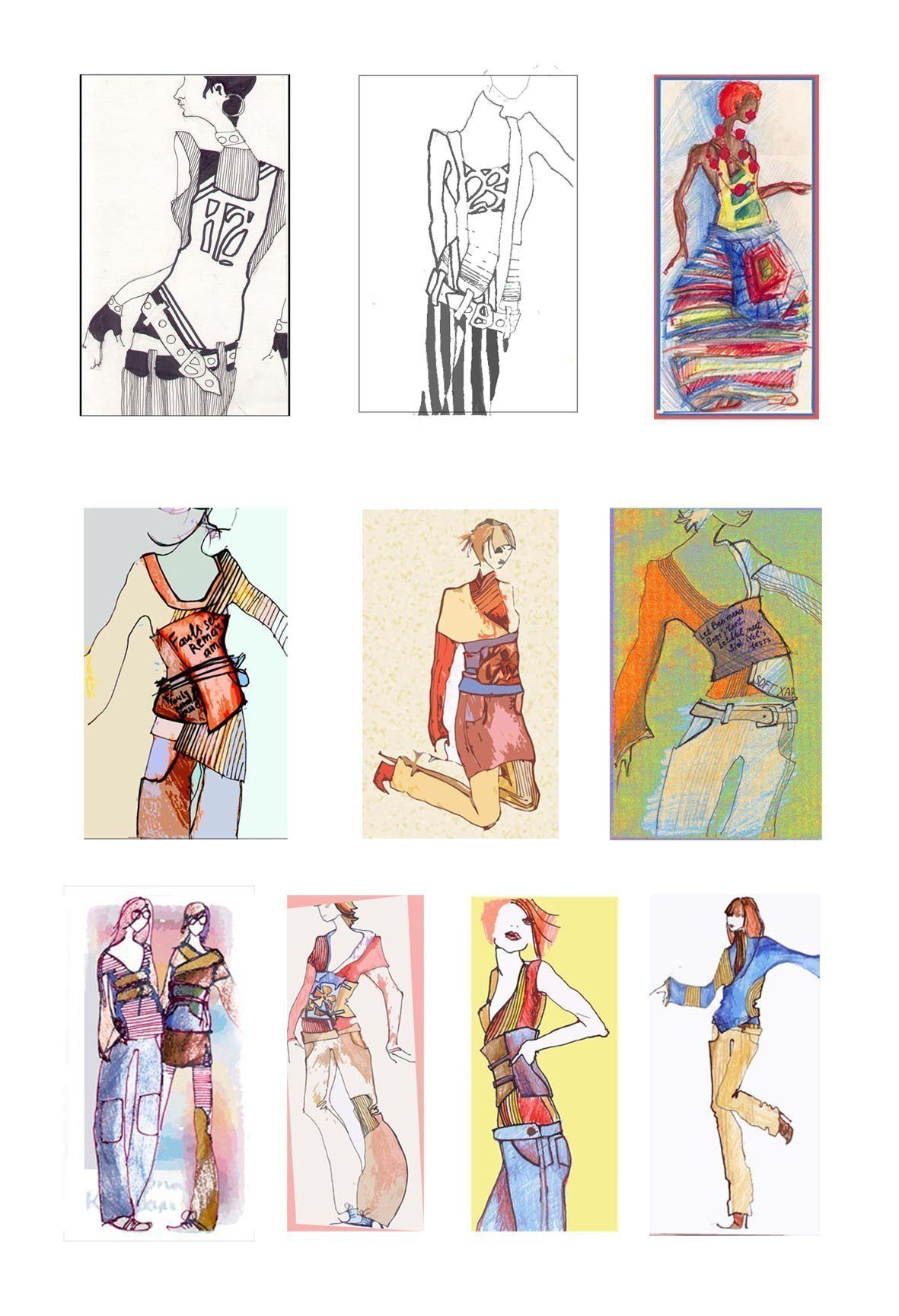 эскизы одежды - Портфолио фрилансера Даша Федоринова (darione) - Weblancer.net