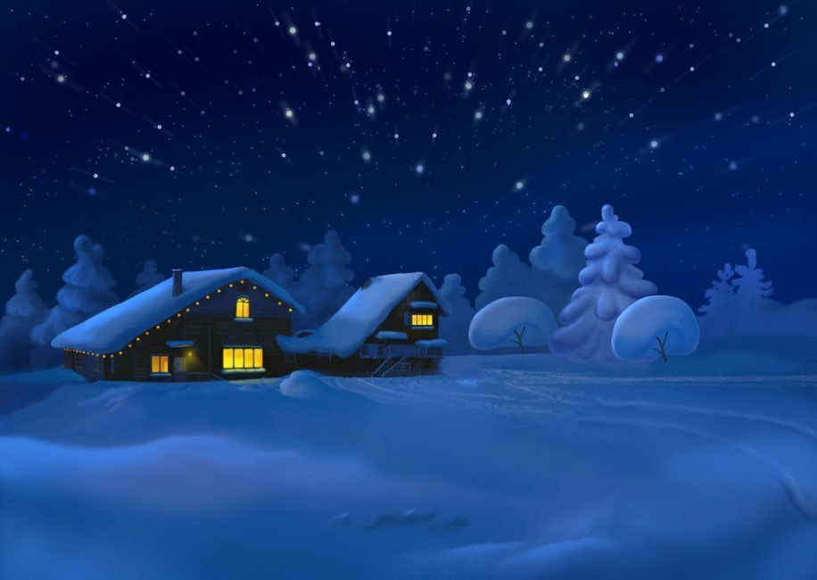 Картинки зимний вечер для детей