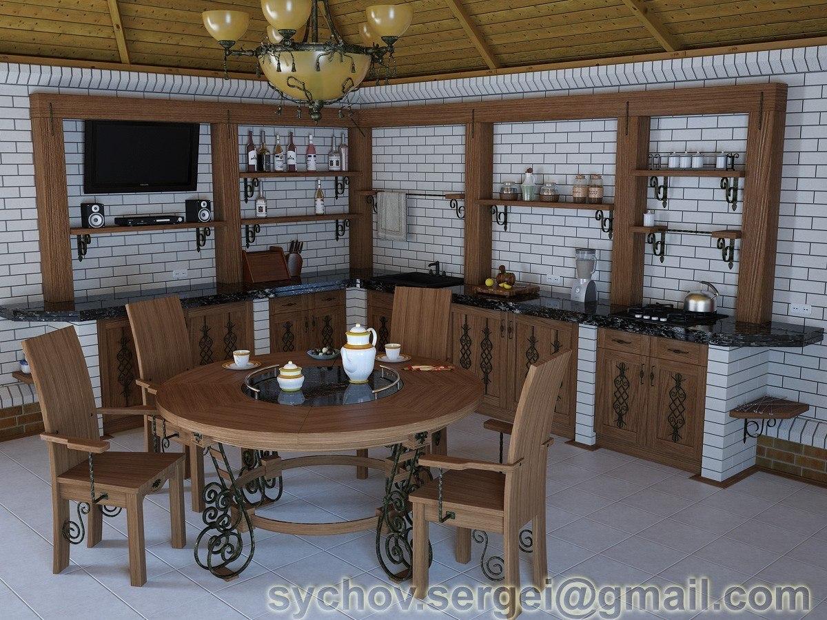 Внутренняя отделка летней кухни фото 2
