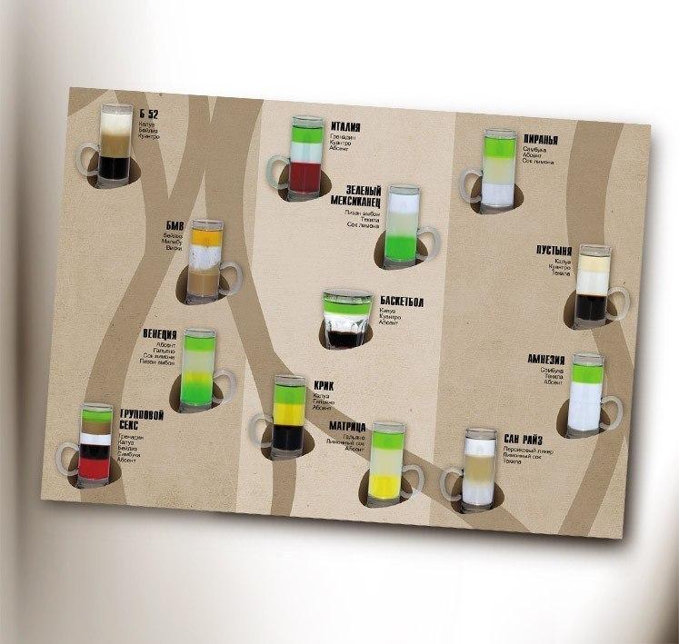 Коктейльная карта для клуба plazma 2009