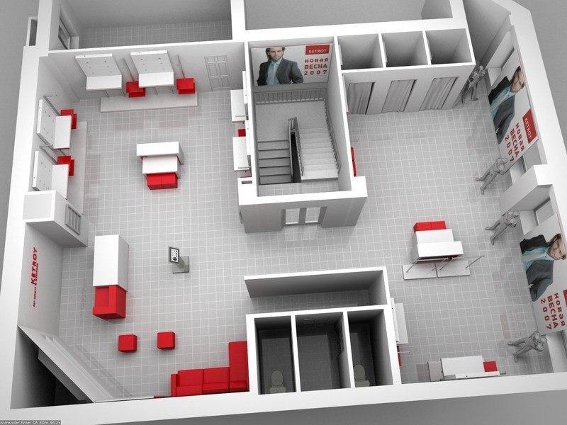 дизайн проект торгового зала