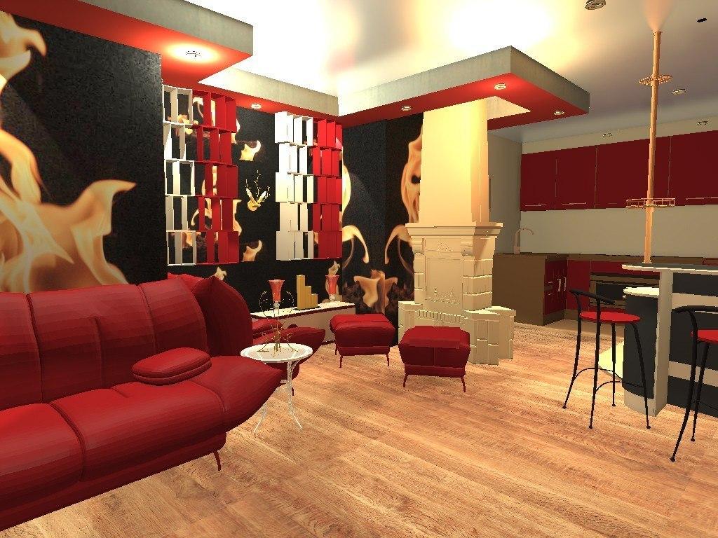Дизайн зала с кухней фото 2016